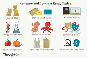 How to write an essay for kids: Compare and contrast essay